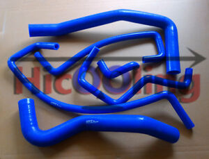 Blue-silicone-heater-radiator-hose-for-HOLDEN-COMMODORE-VP-amp-VQ-3-8-V6-1991-1994