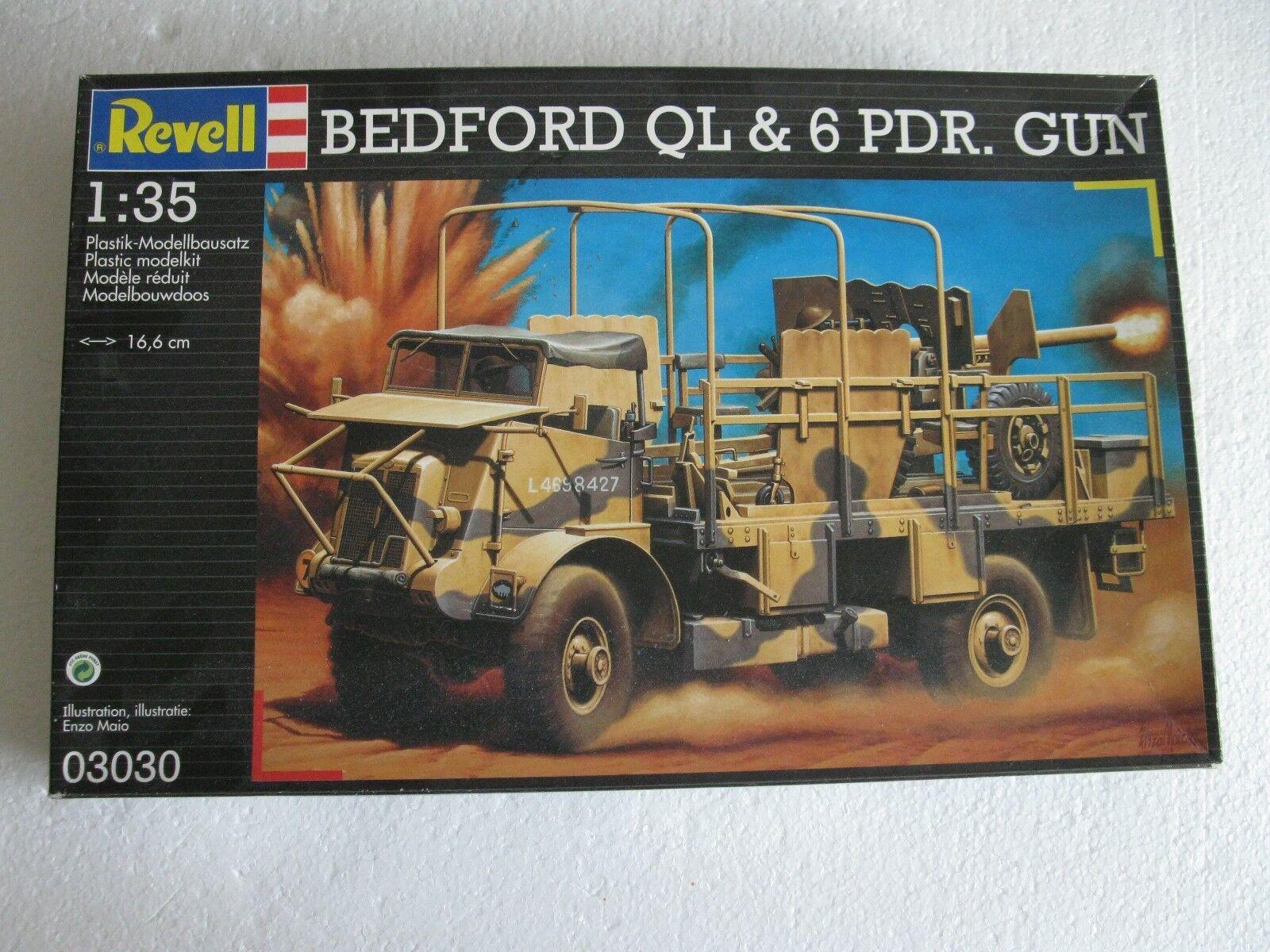 Revell 03030 BEDFORD QL & 6 PDR. GUN GUN GUN  1 35  | Charakteristisch  6d4c0f