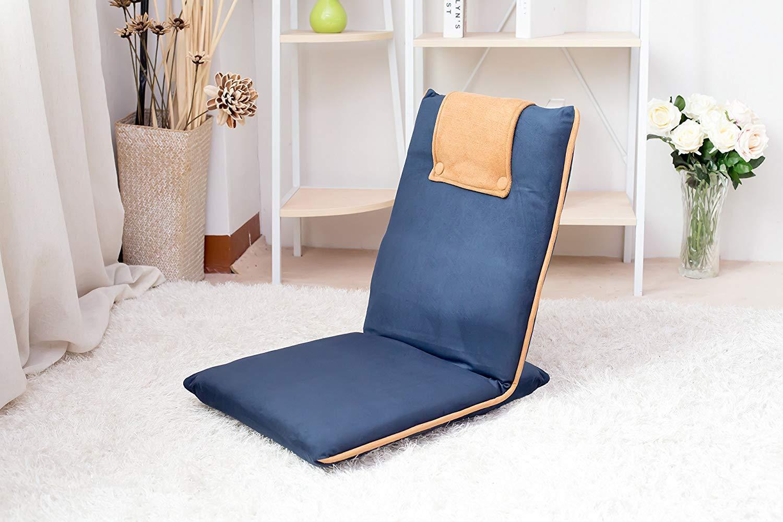 portable Rembourré Sol Chaise pliable pour la méditation TV Regarder lecture Bleu