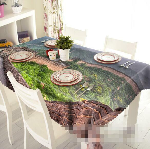 3D Landscape 4 Tablecloth Table Cover Cloth Birthday Party Event AJ WALLPAPER AU