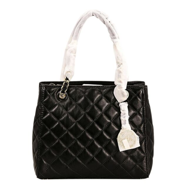880f0c9c188f Michael Kors Quilted Leather Tote Adjustable Strap Handbag for Women's,  Black