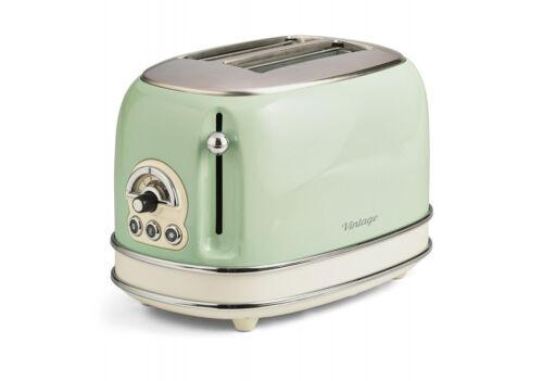 Ariete 155 Toaster vintage 2 Slices Toaster Retro 810W IN Metal Blue,Beige,Green