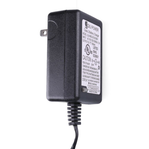 12V Battery Charger Adapter for Razor Power Rider 360 Electric Tricycle