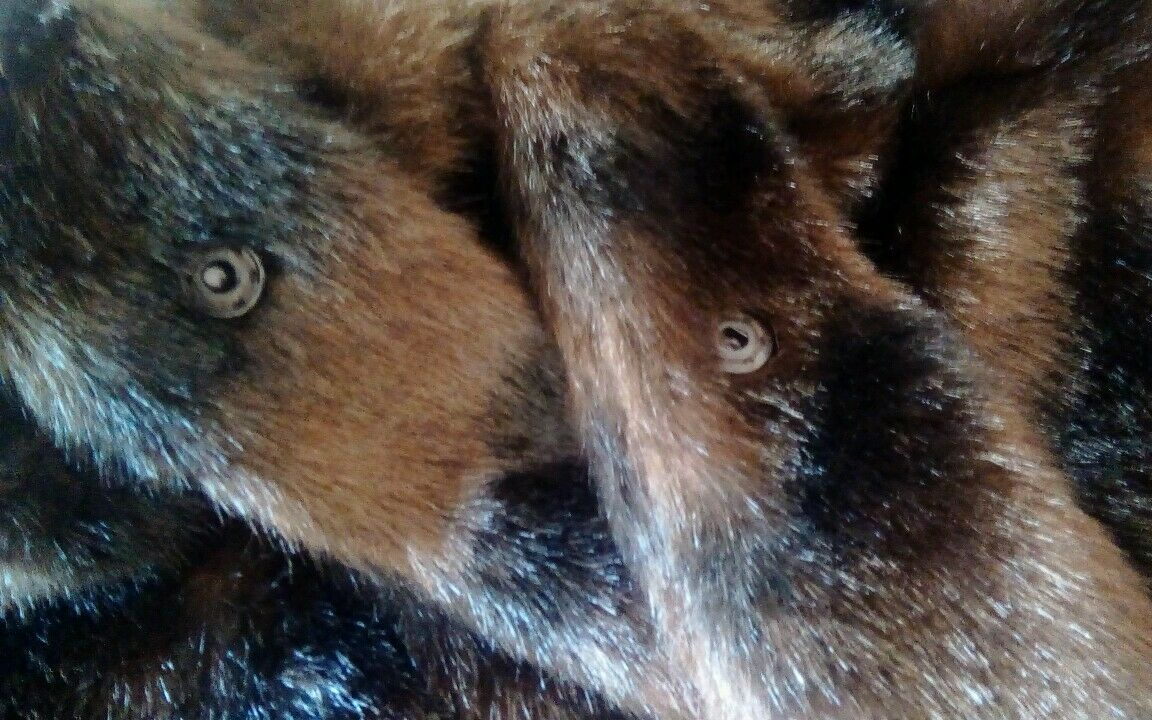 Attention Women's Women's Women's Brown Faux Fur 3 4 Sleeve Hook Eye Fasten Coat Size L d06fca