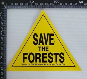 VINTAGE-WILDERNESS-SOCIETY-AUSTRALIA-SAVE-THE-FORESTS-ADVERTISING-PROMO-STICKER