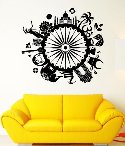1659ig Vinyl Wall Decal India Culture Travel Hinduism Hindu Stickers