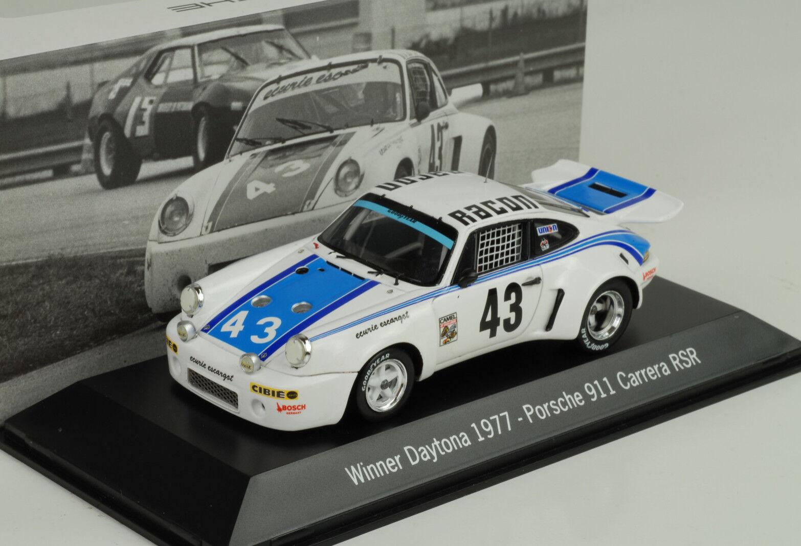 Porsche 911 Carrera Rsr Racon  43 Gagnant Daytona 1977 1 43 Map Musée Spark