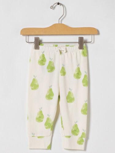 "GAP Baby Boy Girl Size 0-3 Months 100/% Organic Cotton Ivory /""Pear/"" Leggings"