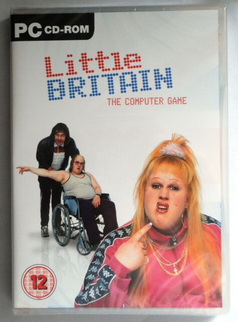 LITTLE BRITAIN - THE COMPUTER GAME PC CD-ROM brand new & sealed UK ORIGINAL !