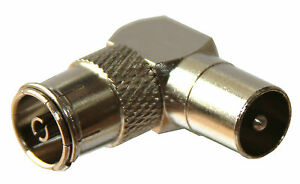90-Degree-Right-Angled-TV-Aerial-Cable-Connector-Male-Coax-Plug-to-Female-Socket