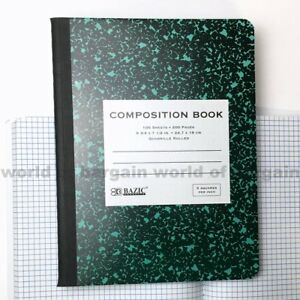 quad ruled composition notebook 5 sq in graph paper math note book
