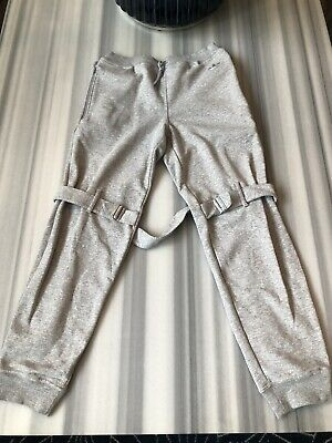 Excepcional simbólico Influencia  Adidas Originals By Jeremy Scott Grey Bondage Sweatpants. Size Medium | eBay