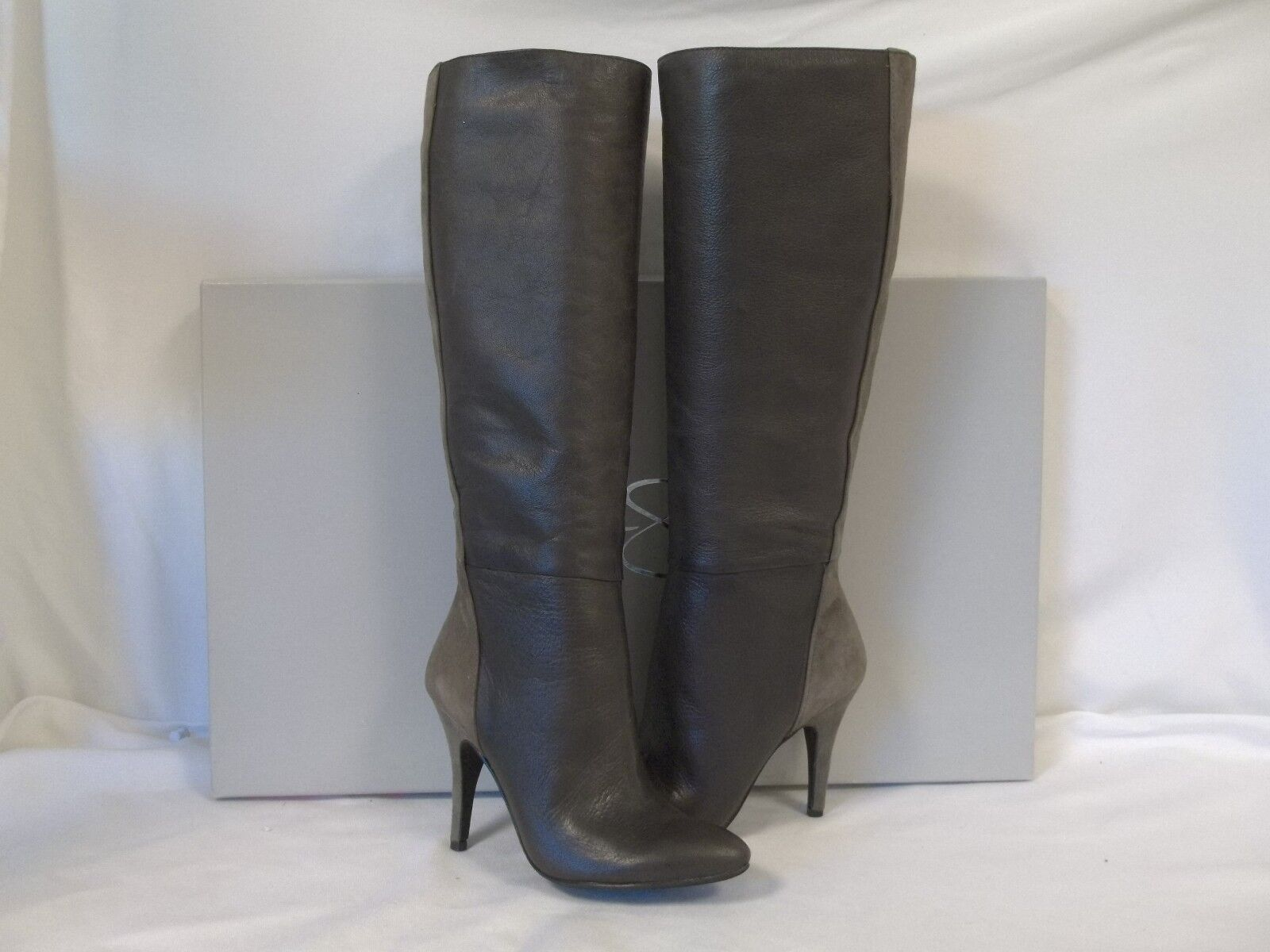 Jessica Simpson 5.5 M Naveens Stiefel Taupe Leder Knee High Stiefel Naveens New Damenschuhe Schuhes 5ee664