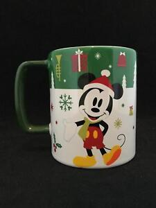 c89c599cf99 Details about NEW! Disney Mickey Mouse Holiday Snack Holder Opening Hole  Coffee Mug Tea Cup