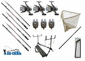 Fishing-Set-Carp-Rods-3-60m-2-75lbs-Free-Roll-Bite-Indicator-Rod-Pod-Catcher