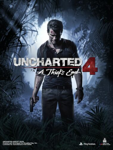 Uncharted 4 Game Wall Scroll Poster Licensed CWS Media Group 27205 Brand New