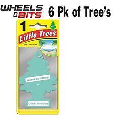 6x Oceano Paradise Profumo Magic Tree Piccolo Alberi Auto Casa Deodorante