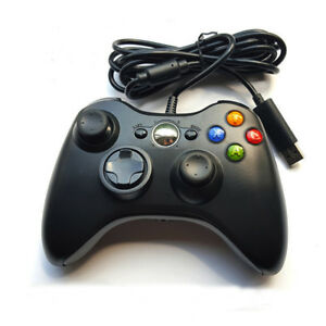 schwarz usb wired controller joypad gamepad joystick f r. Black Bedroom Furniture Sets. Home Design Ideas