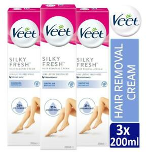 3-x-Veet-Silk-amp-Fresh-Hair-Removal-Cream-200ml-For-Sensitive-Skin-With-Aloe-Vera