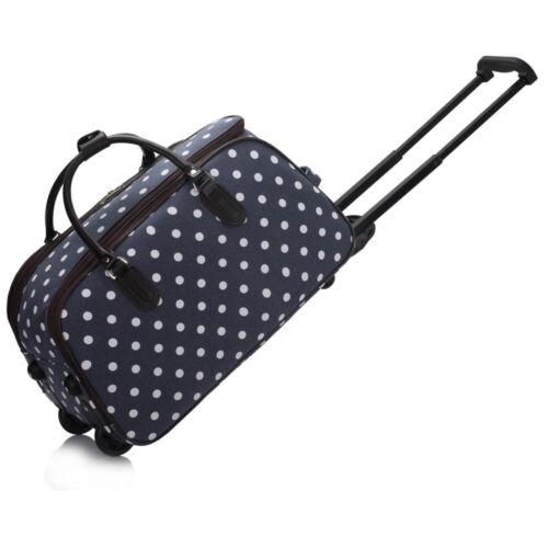 Voyage//Bagages sacs Trolley cartable roulettes Polka Dot Hommes Femmes cabine approuvé