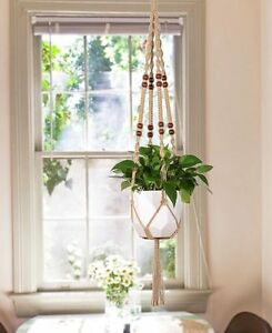 Image Is Loading Mkono Macrame Plant Hanger Indoor Outdoor Hanging Planter