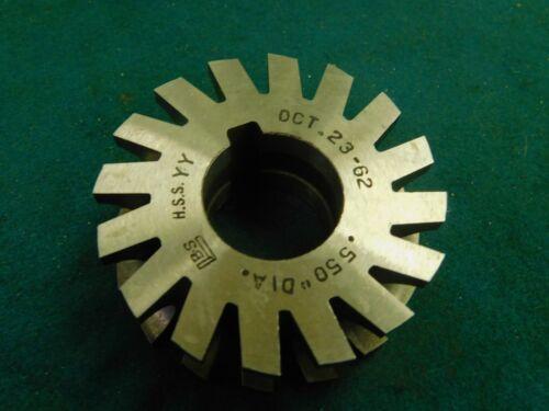 "Brown /& Sharpe 2.5/"" x .550/"" x 1.0/""  Concave Radius Milling Cutter 2.25/"" Radius"