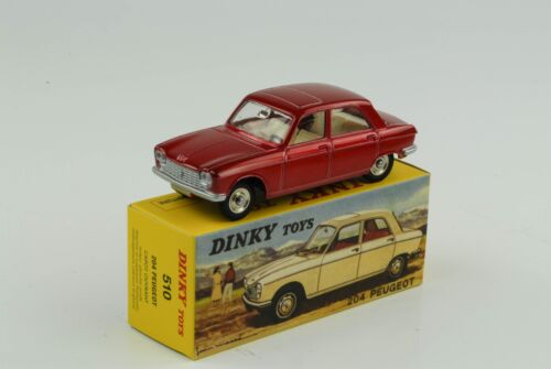 Peugeot 204 rot metallic Ref 510 1:43 Dinky Toys Atlas