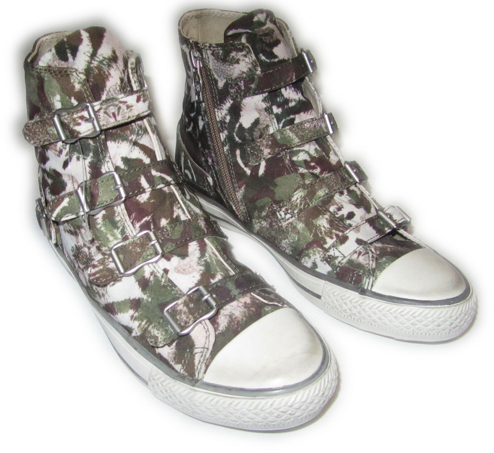 Ash Turnschuhe Schuhe  Virgin - Leder innen - Stoff tarn khaki Gr.  39 40 neu