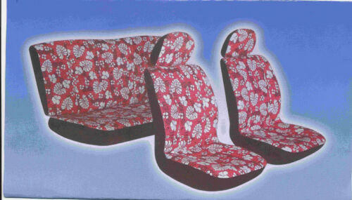 NEW FRONT AND BACK LOW BACK HAWAIIAN SEAT COVER FREE STEERING WHEEL COVER