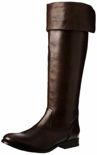 NEW FRYE 77624 Melissa OTK Brown Leather Riding Motorcycle Boots Womens Size 8