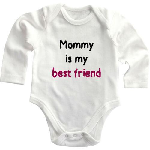 Mommy Is My Best Friend Long Sleeve Baby Bodysuit One Piece