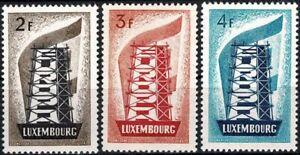 Lussemburgo LUXEMBOURG 1956 Europa frase posta FRESCHI MNH ** kw:200 €