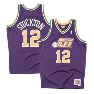 2d98fd920 Utah Jazz John Stockton 1991 Throwback Swingman Jersey Purple Medium ...