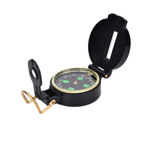 Metal Lensatic Compass Military Camping Hiking Style Survival Marching  SKHG