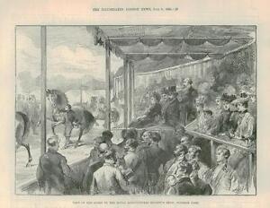 1889-Antique-Print-QUEEN-VICTORIA-Royal-Agricultural-Show-WINDSOR-PARK-390