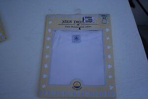 NEUF-PETIT-BATEAU-Chemise-a-Bretelles-FILLE-2-ans-86-cm-blanc-ecru