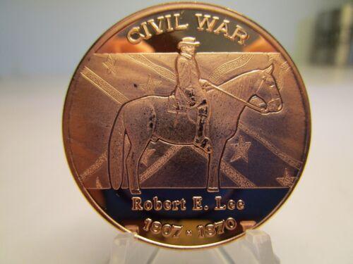 1 OZ .BU.COPPER ROUND CIVIL WAR SERIES ROBERT E LEE