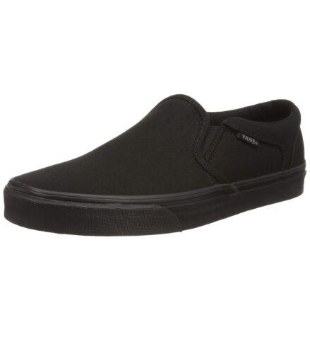 Hombre Sin Liso Lona Cordones De Asher Skater Negro Zapatillas Zapatos Vans qwU5aFAx