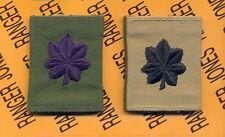 USAF LTC Lieutenant Colonel OD Green & Desert Reversable slip on rank patch