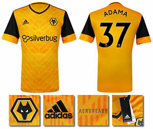 Details about 2020 2021 BNWT ADIDAS WOLVES HOME SHIRT ADAMA 37 = KID'S SIZES