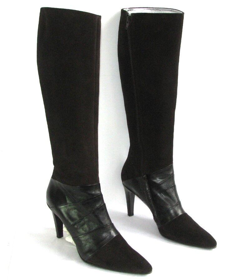 FREE LANCE botas botas botas talons 9 cm cuir velours & lisse marrón 40 EXCELLENT ETAT BOIT  connotación de lujo discreta