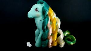 Braided-Beauty-Brush-N-Grow-G1-Vintage-My-Little-Pony-With-Barrette