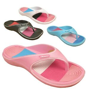 Beach Womens Summer Holiday Ladies Pool Flip Flops Shoes Sandals