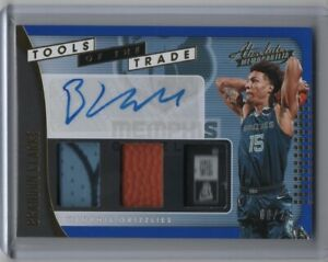 2019-20-Panini-Absolute-Tools-of-the-Trade-Rookie-Patch-Auto-Brandon-Clarke-8-25