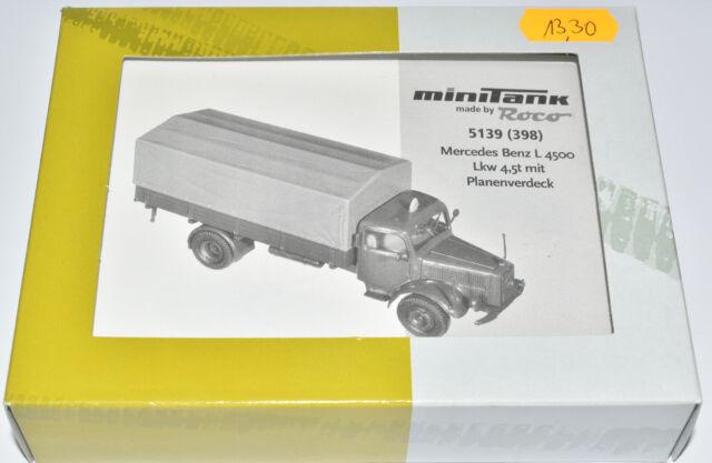 ROCO MINITANKS BAUSATZ 5139 MERCEDES BENZ L4500 LKW 4,5 t PRITSCHE PLANE 1:87