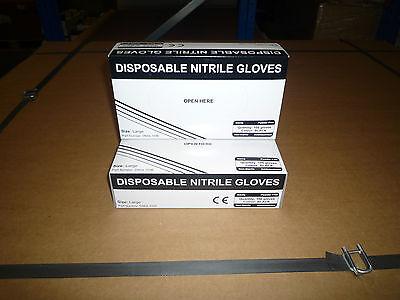 Blue or Black Nitrile Disposable Gloves AQL 1.5  Size Medium