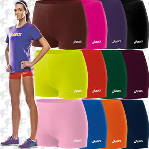 NEW-Asics-Low-Cut-Womens-Spandex-Volleyball-Shorts-2-5-034-Inseam-13-colors