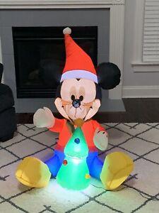 Gemmy Airblown Inflatable Mickey Mouse 85th Anniv. Ed. W/ Tree Disney Yard Decor