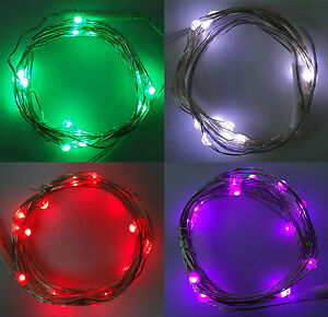 Luce-LED-20led-Filo-a-Batteria-Filo-D-039-Argento-Lucine-Festa-di-Compleanno