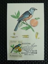 ARGENTINA MK VOGEL VÖGEL BIRD BIRDS MAXIMUMKARTE CARTE MAXIMUM CARD MC CM c3926